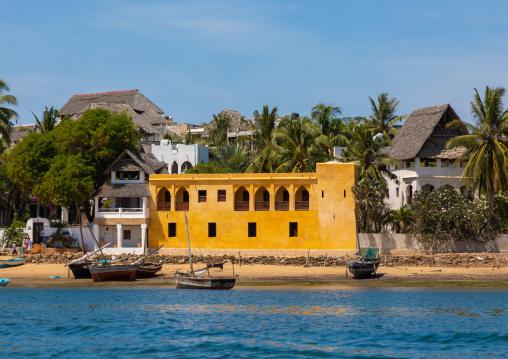 swahili houses seen from the sea, Lamu county, Shela, Kenya