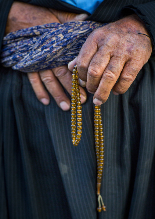 Muslim Man With Prayer Beads, Erbil, Kurdistan, Iraq