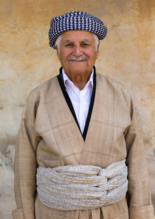 Kurdish Man In Traditional Clothing, Amedi, Kurdistan Iraq