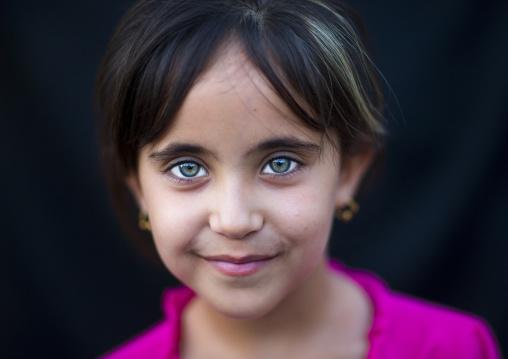 Kurdish Girl With Green Eyes, Akre, Kurdistan, Iraq