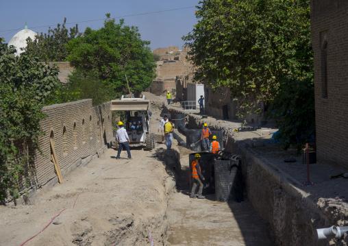 Workers Renovating The Citadel, Erbil, Kurdistan, Iraq