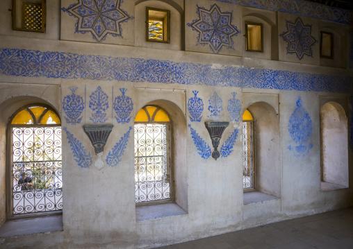 Ottoman Painted Ornamentation In A Divan Inside The Erbil Citadel, Kurdistan, Iraq