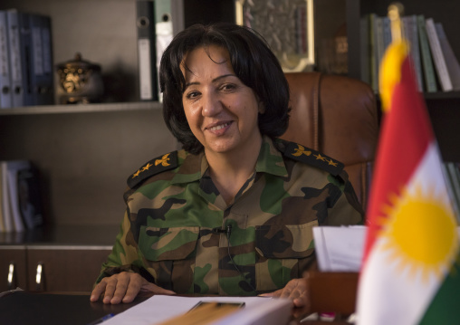 Colonel Nahida Ahmad Rashid In Her Office, Sulaymaniyah, Kurdistan, Iraq