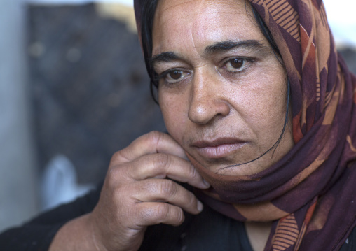 Yezidi Refugee Woman Displaced From Sinjar Who Lhas Lost Her Husband, Duhok, Kurdistan, Iraq