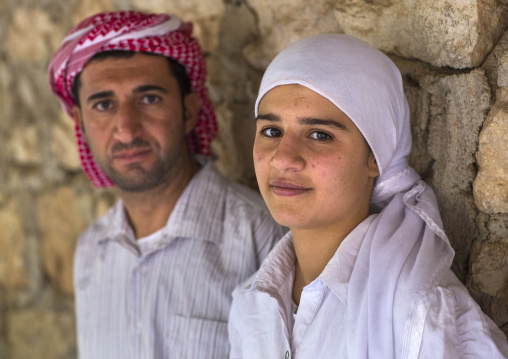 Yazidis People In Lalesh Temple, Kurdistan, Iraq