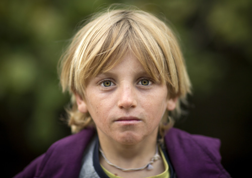 Yezidi Refugee Boy Displaced From Sinjar Living In Lalesh Temple, Kurdistan, Iraq