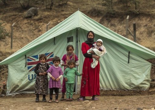 Yezedi Refugee Family From Sinjar, Lalesh, Kurdistan, Iraq