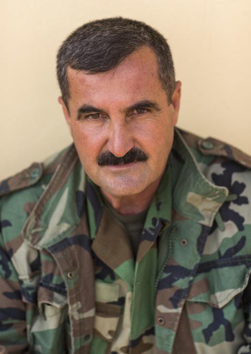 Kurdish Peshmerga On The Frontline, Duhok, Kurdistan, Iraq