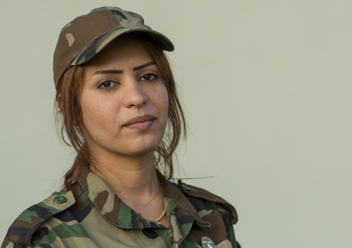 Peshmerga Woman Of The 2Nd Battalion, Sulaymaniyah, Kurdistan, Iraq