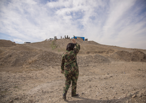 Colonel Nahida Ahmad Rashid On The Frontline, Taza, Kurdistan, Iraq