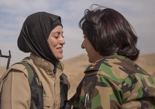Peshmergas Women Of The 2Nd Battalion On The Frontline, Taza, Kurdistan, Iraq