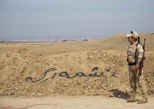 Peshmerga Woman Of The 2Nd Battalion On The Fronline, Taza, Kurdistan, Iraq