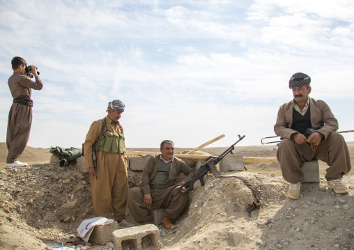Kurdish Peshmergas Veterans On The Frontline, Kirkuk, Kurdistan, Iraq