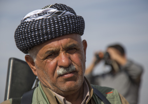 Kurdish Peshmerga On The Frontline, Kirkuk, Kurdistan, Iraq
