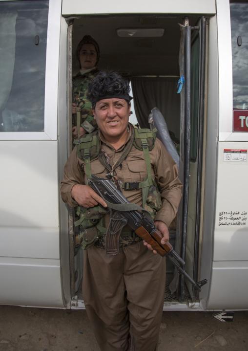 Peshmerga Woman Of The 2Nd Battalion On The Frontline, Taza, Kurdistan, Iraq