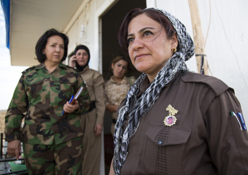 Peshmergas Women Of The 2Nd Battalion On The Frontline, Taza, Kurdistan, Iraq