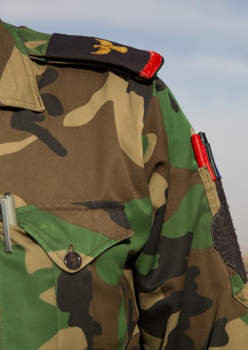 Iraqi Soldier Uniform On The Frontline, Kirkuk, Kurdistan, Iraq