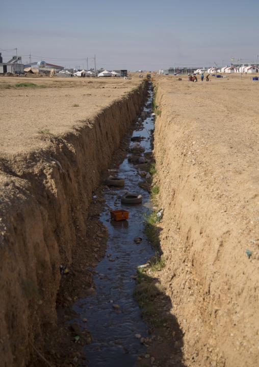 Qushtapa Refugee Camp Sewage, Erbil, Kurdistan, Iraq