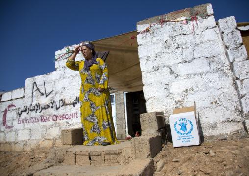 Woman In Front Of Her House, Qushtapa Refugee Camp, Erbil, Kurdistan, Iraq