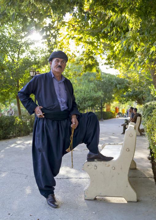 Man In A Traditional Kurdish Suit, Suleymanyah, Kurdistan, Iraq
