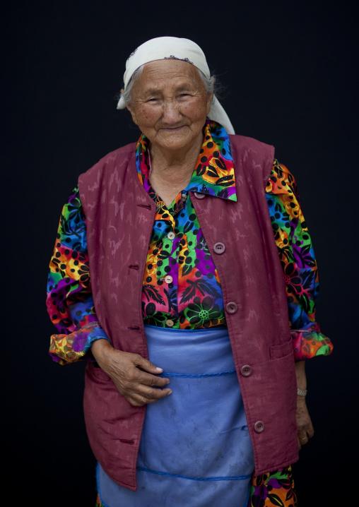 Old Woman With Headscarf, Bishkek, Kyrgyzstan