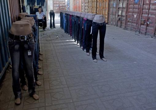 Denims For Sale In Dordoi Market, Bishkek, Kyrgyzstan