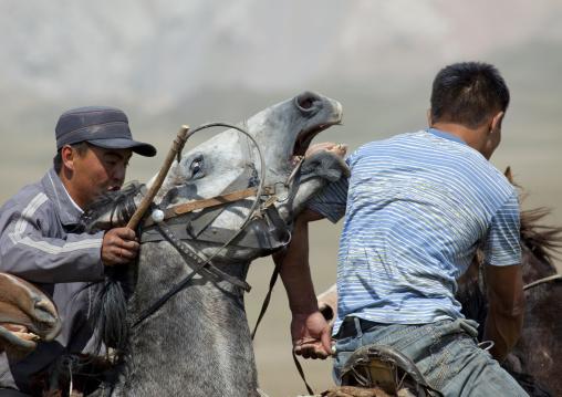 Men Playing A Horse Game, Song Kol Lake Area, Kyrgyzstan