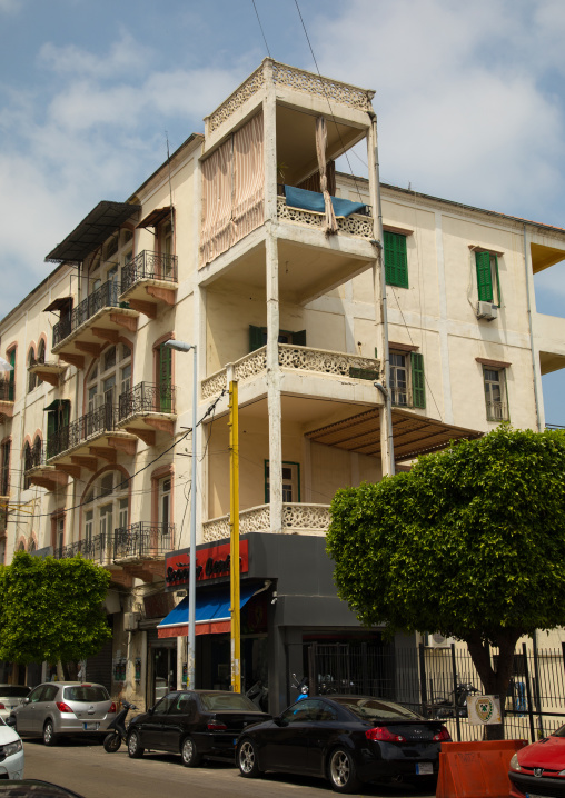 Old building in Mar Mikhael area, Beirut Governorate, Beirut, Lebanon