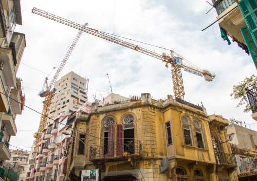 Traditional old buildings in Mar Mikhael, Beirut Governorate, Beirut, Lebanon