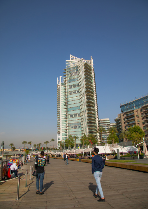 Luxury residential buildings on the corniche, Beirut Governorate, Beirut, Lebanon
