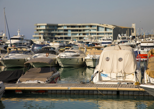 Harbor in marina yacht club, Beirut Governorate, Beirut, Lebanon