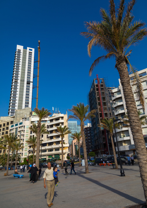 Luxury residential buildings in the corniche, Beirut Governorate, Beirut, Lebanon