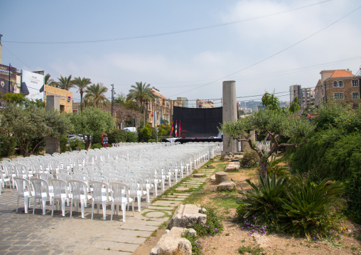 Open air cinema in the old town, Mount Lebanon Governorate, Byblos, Lebanon