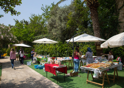 Book fair in the old town, Mount Lebanon Governorate, Byblos, Lebanon