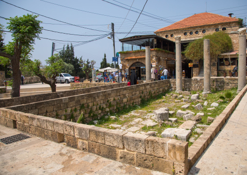 Antique coloumns in the historic town, Mount Lebanon Governorate, Byblos, Lebanon