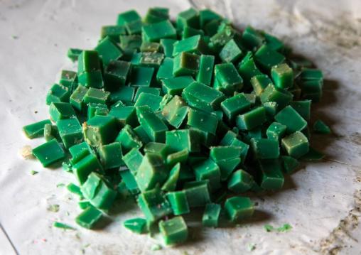 Green soaps in al Sharkas workshop in Khan al Misriyin, North Governorate, Tripoli, Lebanon