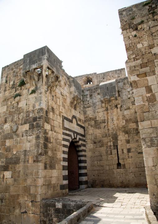 Citadel of Raymond de Saint Gilles entrance, North Governorate, Tripoli, Lebanon