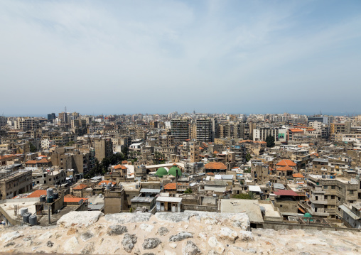 Cityscape seen from the citadel of Raymond de Saint Gilles, North Governorate, Tripoli, Lebanon