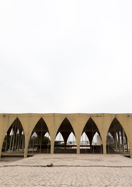 The lebanese pavillon at the Rachid Karami international exhibition center designed by brazilian architect Oscar Niemeyer, North Governorate, Tripoli, Lebanon