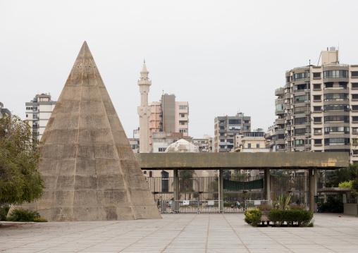Recreational area for kids in the  Rachid Karami international exhibition center designed by brazilian architect Oscar Niemeyer, North Governorate, Tripoli, Lebanon