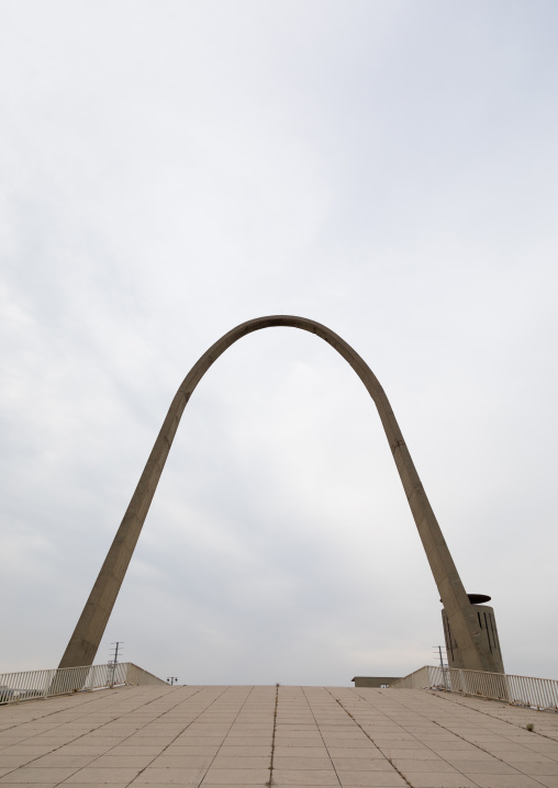 The arch at the Rachid Karami international exhibition center designed by brazilian architect Oscar Niemeyer, North Governorate, Tripoli, Lebanon
