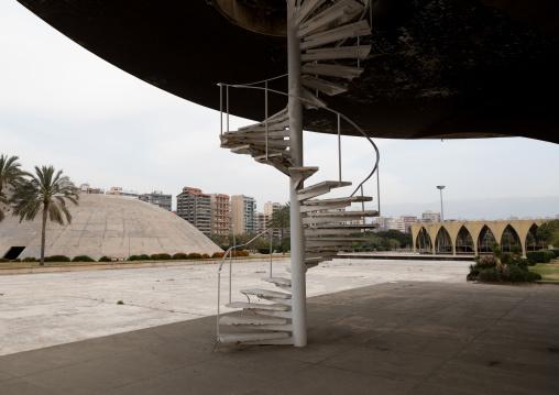 Helipad in the the Rachid Karami international exhibition center designed by brazilian architect Oscar Niemeyer, North Governorate, Tripoli, Lebanon