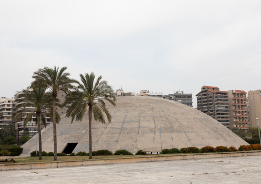 The experimental theater at the Rachid Karami international exhibition center designed by brazilian architect Oscar Niemeyer, North Governorate, Tripoli, Lebanon