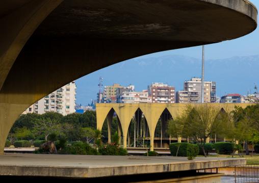 The lebanese pavillon at the Rachid Karami international exhibition center designed by brazilian architect Oscar Niemeyer, North Governorate, Tripoli, Lebanon