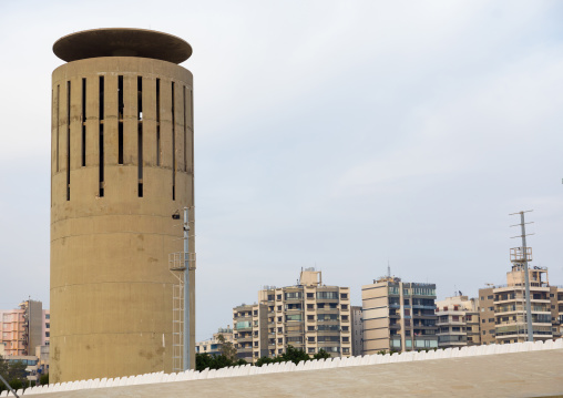 Water tower at the Rachid Karami international exhibition center designed by brazilian architect oscar niemeyer, North Governorate, Tripoli, Lebanon