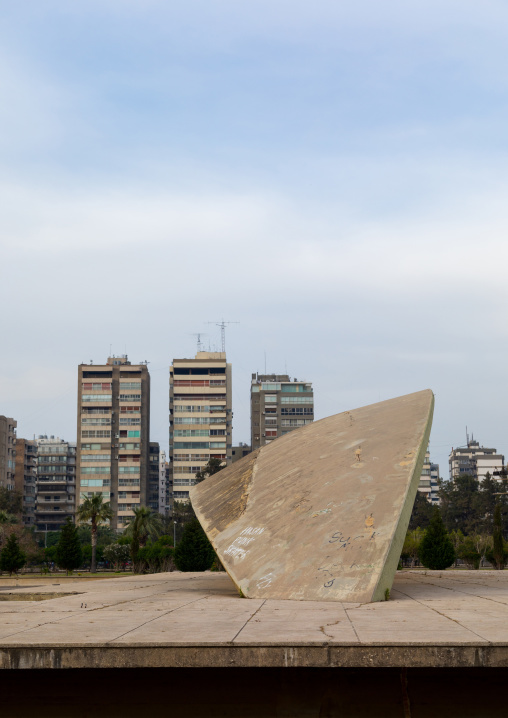 The experimental theatre in the Rachid Karami international exhibition center designed by brazilian architect Oscar Niemeyer, North Governorate, Tripoli, Lebanon
