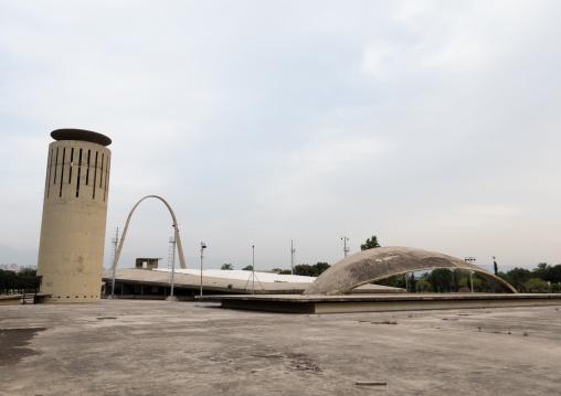 Water tower at the Rachid Karami international exhibition center designed by brazilian architect oscar niemeyer, North Governorate, Tripoli, Lebanon