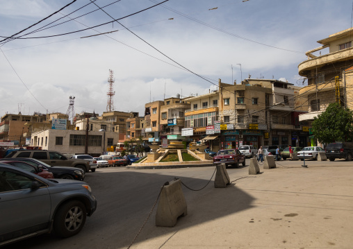Square in the city center, Beqaa Governorate, Baalbek, Lebanon