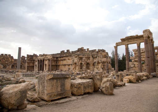Great court of the temple complex, Beqaa Governorate, Baalbek, Lebanon