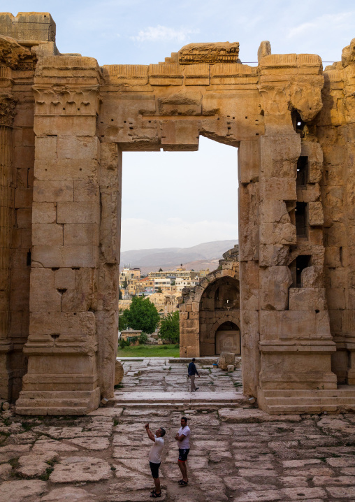 Inside the temple of Bacchus in the archaeological site, Beqaa Governorate, Baalbek, Lebanon